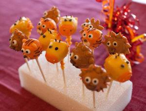 Safari Birthday Party Cake Pops