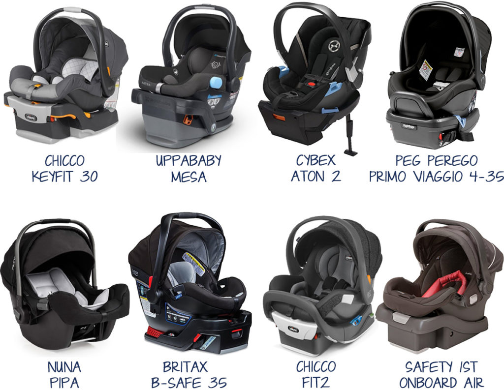 Baby Registry Needs - the best infant car seats: Keyfit30, Mesa, Aton 2, Primo Viaggio, Pipa, B-Safe, Fit2, Onboard Air ~ best infant car seat