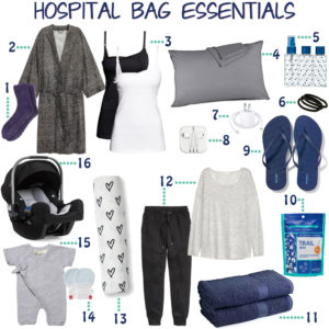 a perfectly packed hospital bag ~ hospital bag essentials