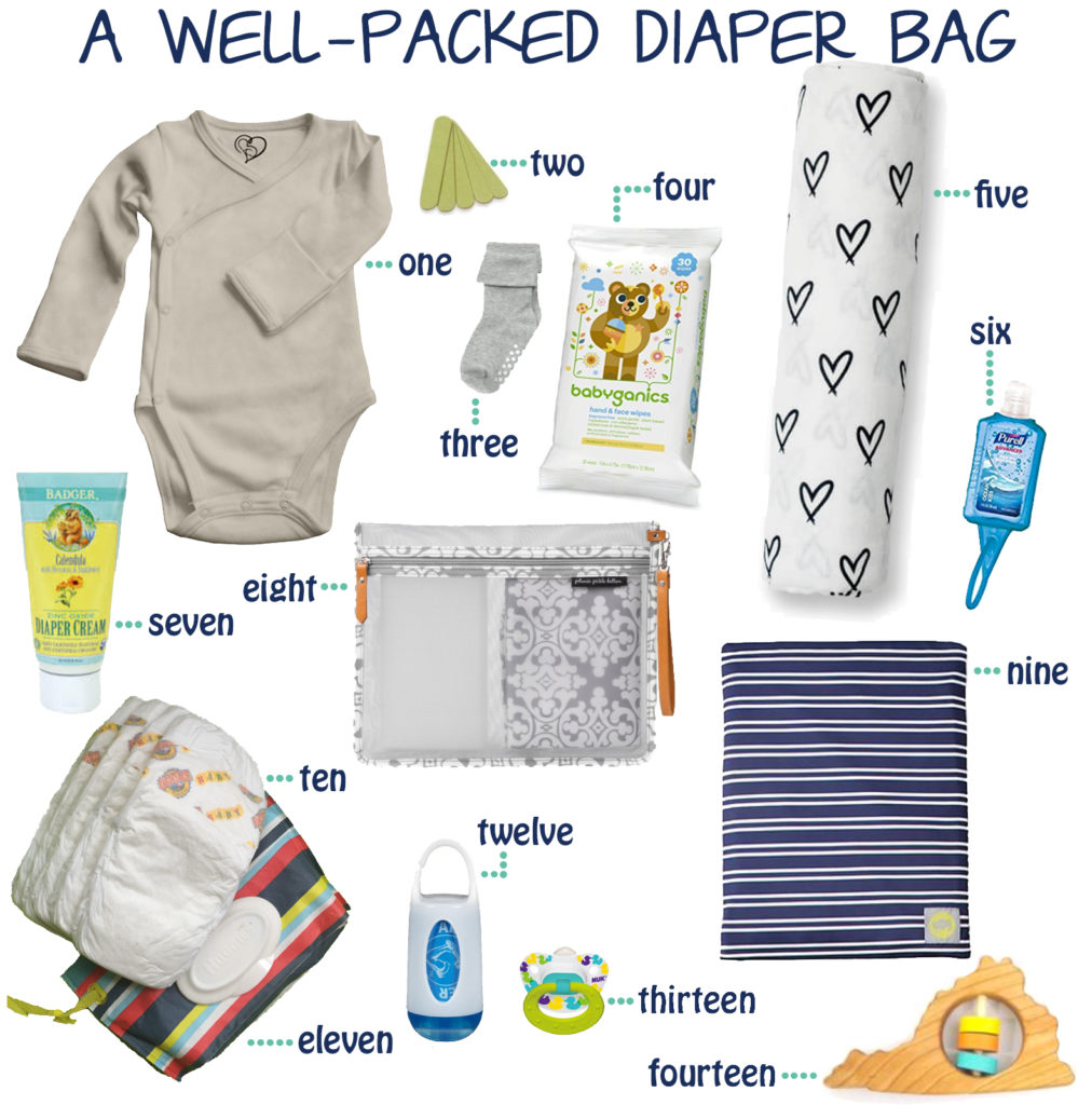 A Well-Packed Diaper Bag / Diaper Bag Essentials ~Whining With Wine~