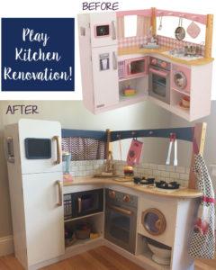 DIY Play Kitchen Renovation / Rehab