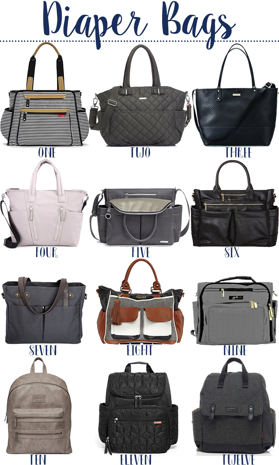 Fashion week Tote stylish diaper bags for woman
