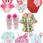 Adorable Flamingo and Shark Swimwear