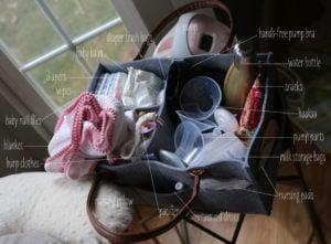 breastfeeding basket • breastfeeding essentials • breastfeeding gift